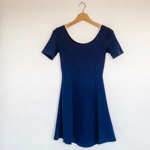 H&M DIVIDED Fit and Flare Navy Mini Dress